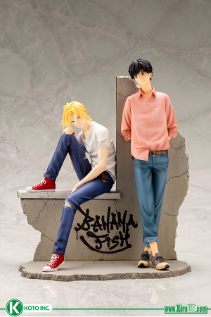 BANANA FISH ASH LYNX AND EIJI OKUMURA ARTFX J