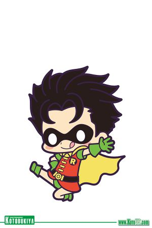 DC COMICS BATMAN DEBUT RUBBER STRAP CHARM - ROBIN [SINGLE]