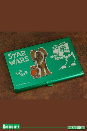 STAR WARS CHEWBACCA & WICKET BUSINESS CARD HOLDER