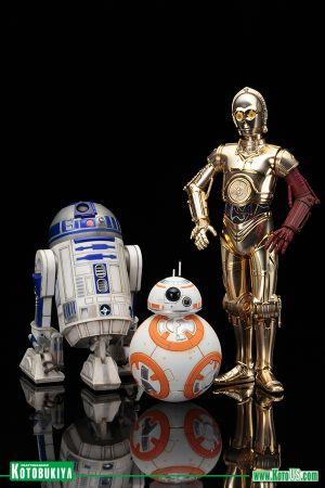STAR WARS R2-D2 & C-3PO with BB-8 ARTFX+ STATUE