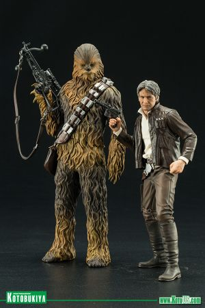 STAR WARS THE FORCE AWAKENS HAN SOLO & CHEWBACCA TWO PACK  ARTFX+