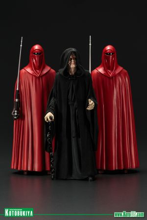 STAR WARS EMPEROR PALPATINE ROYAL GUARD THREE PACK ARTFX+