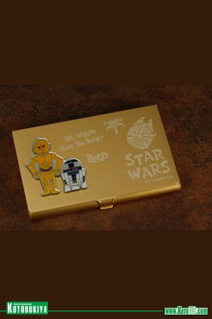 STAR WARS R2D2 AND C-3PO BUSINESS CARD HOLDER