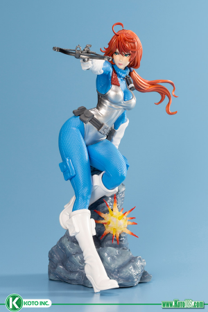 G.I.JOE SCARLETT SKY BLUE COLOR BISHOUJO STATUE