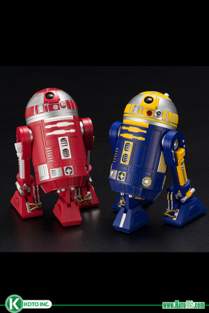 STAR WARS CELEBRATION 2019 - R2-R9 & R2-B1 TWO PACK ARTFX+  - INCLUDES KOTO INC PIN