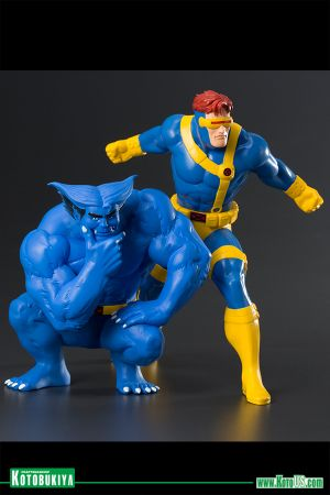 MARVEL UNIVERSE X-MEN '92 CYCLOPS & BEAST TWO PACK ARTFX+ STATUE