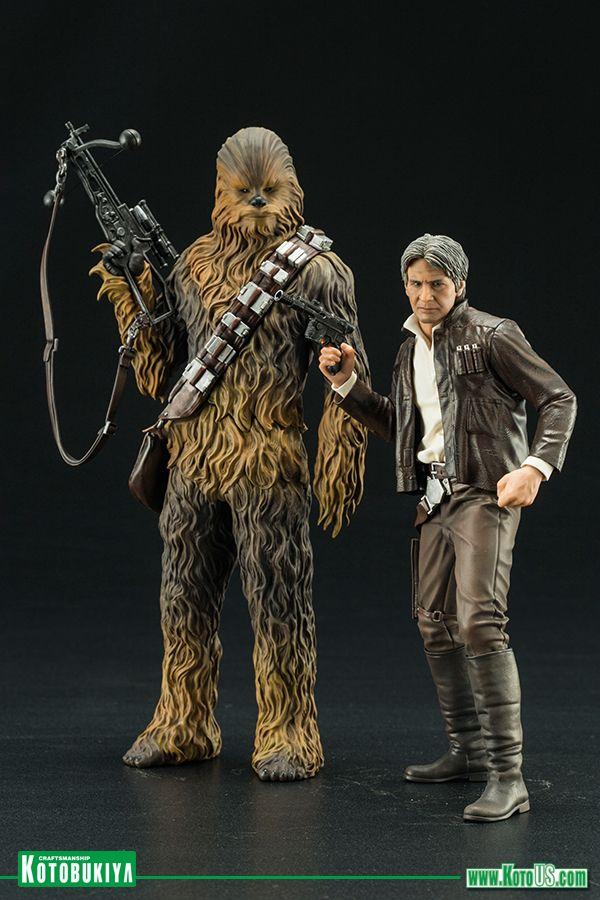 Statue by Kotobukiya *NEW* Star Wars Han Solo /& Chewbacca 1//10 Scale ArtFX